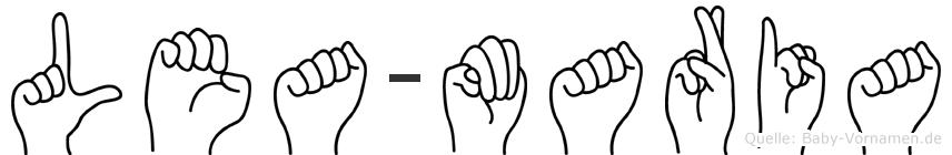 Lea-Maria im Fingeralphabet der Deutschen Gebärdensprache