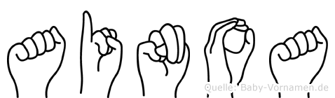 Ainoa in Fingersprache für Gehörlose