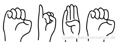 Eibe im Fingeralphabet der Deutschen Gebärdensprache