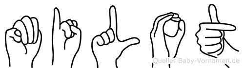 Milot im Fingeralphabet der Deutschen Gebärdensprache