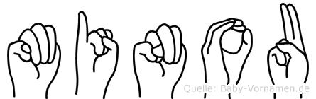 Minou in Fingersprache für Gehörlose