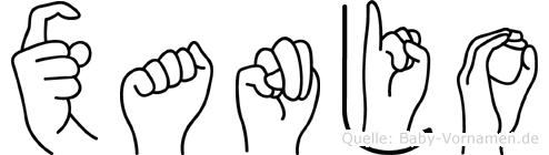 Xanjo in Fingersprache für Gehörlose