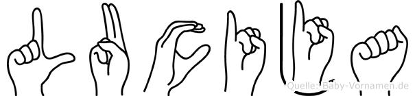 Lucija in Fingersprache für Gehörlose