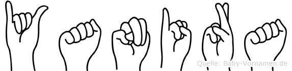Yanira im Fingeralphabet der Deutschen Gebärdensprache