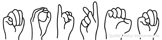 Moiken in Fingersprache für Gehörlose
