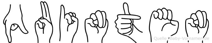 Quinten im Fingeralphabet der Deutschen Gebärdensprache