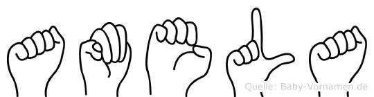 Amela in Fingersprache für Gehörlose