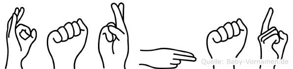 Farhad im Fingeralphabet der Deutschen Gebärdensprache