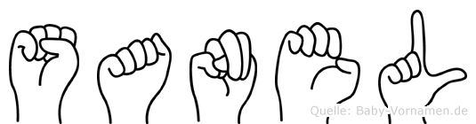Sanel in Fingersprache für Gehörlose