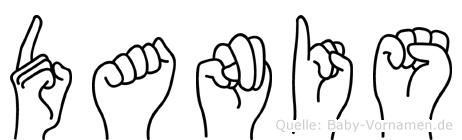 Danis in Fingersprache für Gehörlose