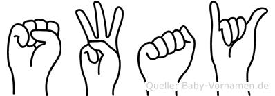 Sway in Fingersprache für Gehörlose