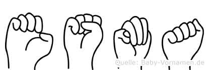 Esma im Fingeralphabet der Deutschen Gebärdensprache