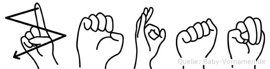 Zefan in Fingersprache für Gehörlose