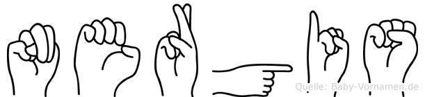 Nergis in Fingersprache für Gehörlose