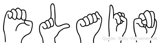 Elain im Fingeralphabet der Deutschen Gebärdensprache