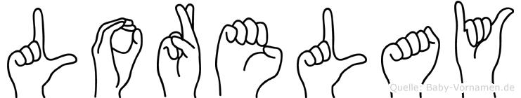 Lorelay im Fingeralphabet der Deutschen Gebärdensprache