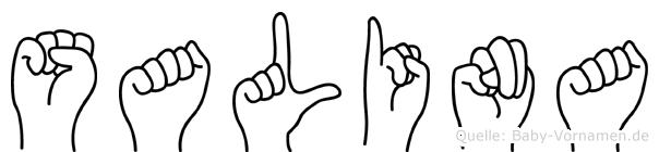 Salina in Fingersprache für Gehörlose