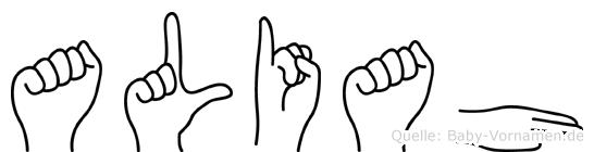 Aliah in Fingersprache für Gehörlose