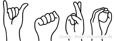 Yaro in Fingersprache für Gehörlose