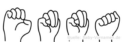 Enna in Fingersprache für Gehörlose