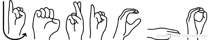 Jericho im Fingeralphabet der Deutschen Gebärdensprache