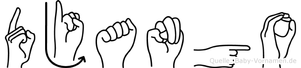 Django in Fingersprache für Gehörlose