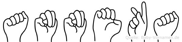Anneka in Fingersprache für Gehörlose