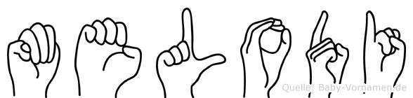 Melodi in Fingersprache für Gehörlose