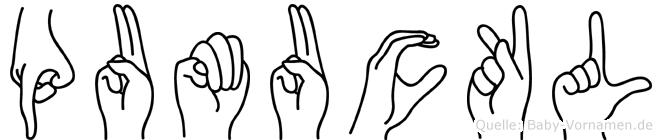 Pumuckl in Fingersprache für Gehörlose