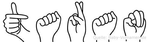 Taran in Fingersprache f�r Geh�rlose