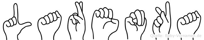 Larenka im Fingeralphabet der Deutschen Gebärdensprache