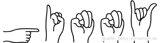 Ginny im Fingeralphabet der Deutschen Gebärdensprache