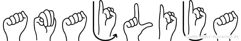 Amajlija in Fingersprache für Gehörlose