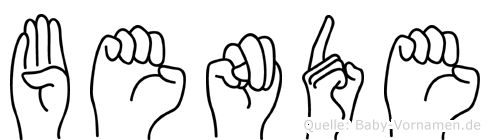 Bende im Fingeralphabet der Deutschen Gebärdensprache