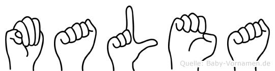 Malea in Fingersprache für Gehörlose