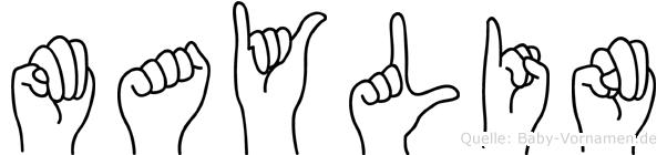Maylin im Fingeralphabet der Deutschen Gebärdensprache