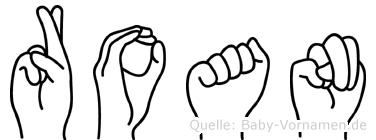 Roan im Fingeralphabet der Deutschen Gebärdensprache