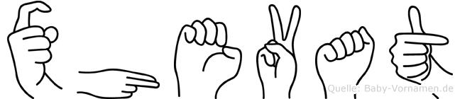 Xhevat in Fingersprache für Gehörlose