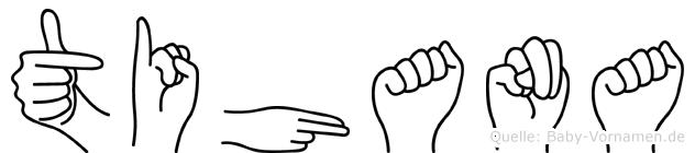Tihana im Fingeralphabet der Deutschen Gebärdensprache