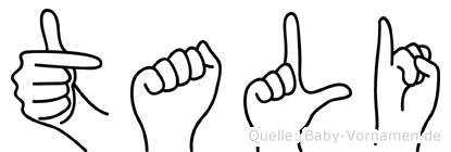 Tali im Fingeralphabet der Deutschen Gebärdensprache