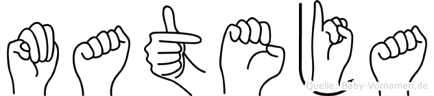 Mateja im Fingeralphabet der Deutschen Gebärdensprache