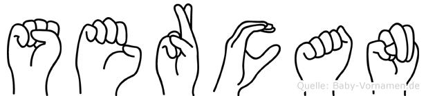 Sercan im Fingeralphabet der Deutschen Gebärdensprache