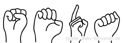 Seda in Fingersprache für Gehörlose