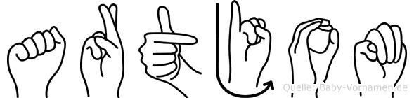 Artjom in Fingersprache für Gehörlose