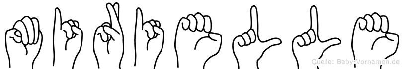 Mirielle im Fingeralphabet der Deutschen Gebärdensprache