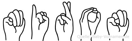 Miron im Fingeralphabet der Deutschen Gebärdensprache