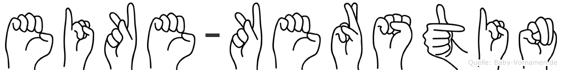 Eike-Kerstin im Fingeralphabet der Deutschen Gebärdensprache