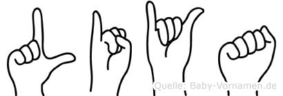 Liya im Fingeralphabet der Deutschen Gebärdensprache