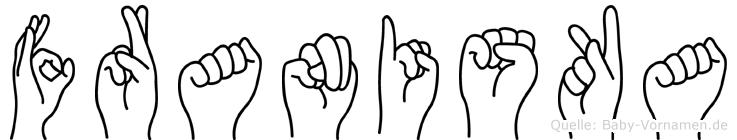 Franiska im Fingeralphabet der Deutschen Gebärdensprache