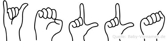 Yella im Fingeralphabet der Deutschen Gebärdensprache